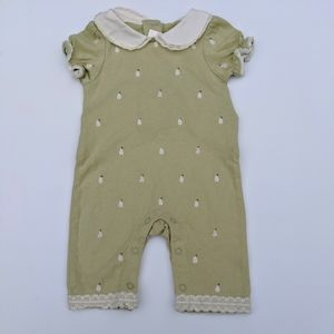 Janie and Jack Pear Print Romper